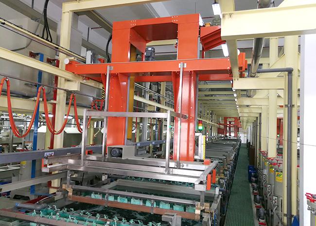 五金龍門式掛鍍鎳鉻生產線