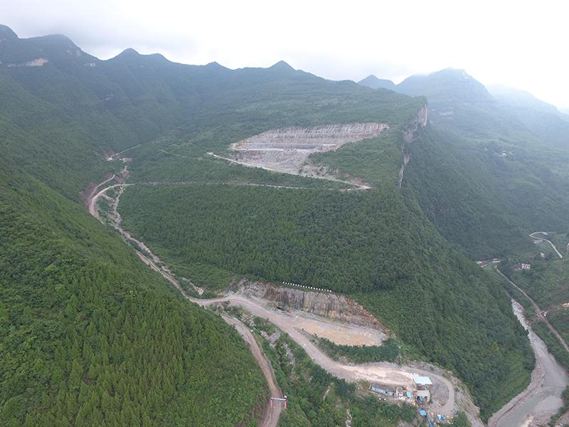 旺苍西南水泥有限公司矿石开采工程