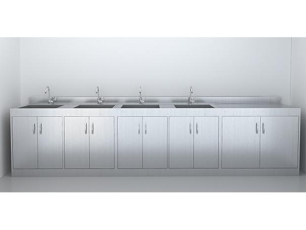 SUS-304不锈钢-污洗柜(3.6米)