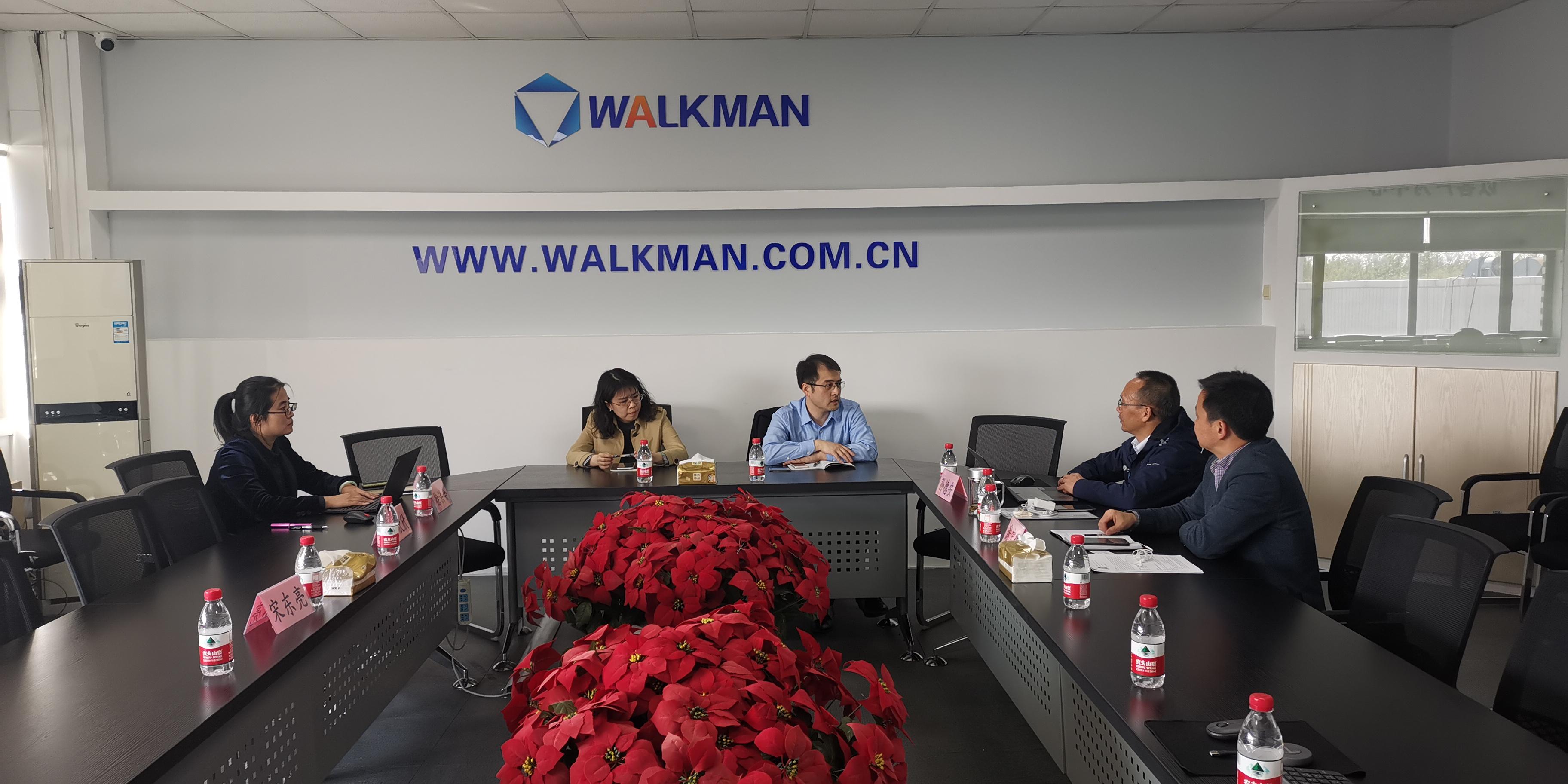 天津高新區黨委組織人事部陳晟副部長一行到威曼生物調研