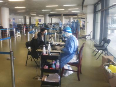 國控建設職工醫院醫師代強赴機場馳援抗疫