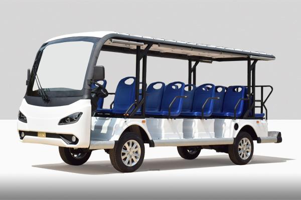新款十四座電動觀光車公交座椅