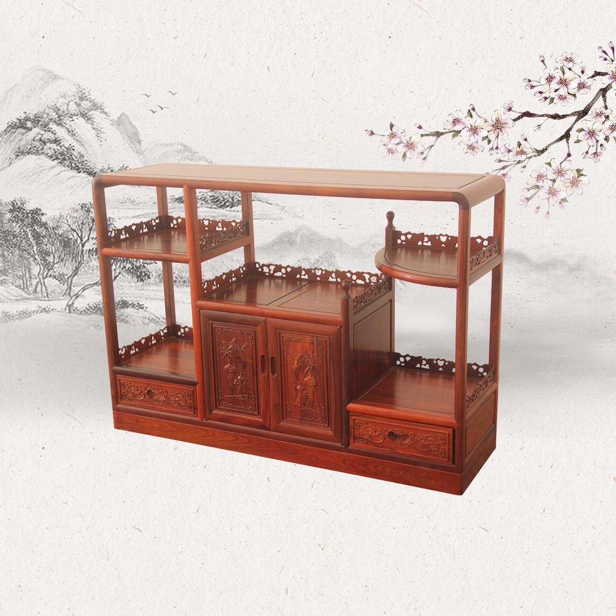 明式圆角茶柜