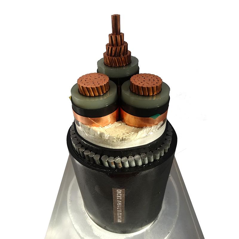10KV电力电缆MYJV328.7/15KV 3X240