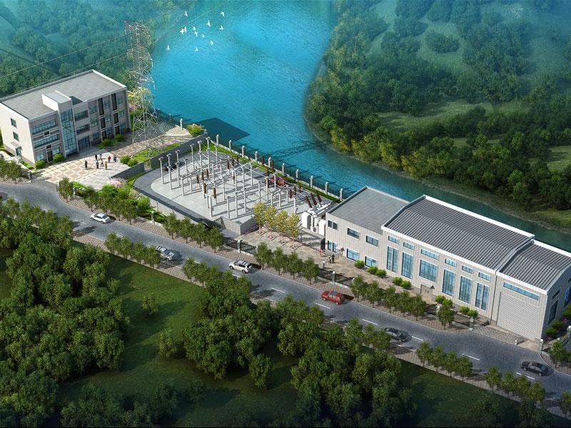 重庆市万州区新长滩电站发电厂房