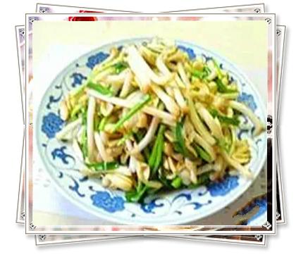 菜谱--韭菜炒花生芽