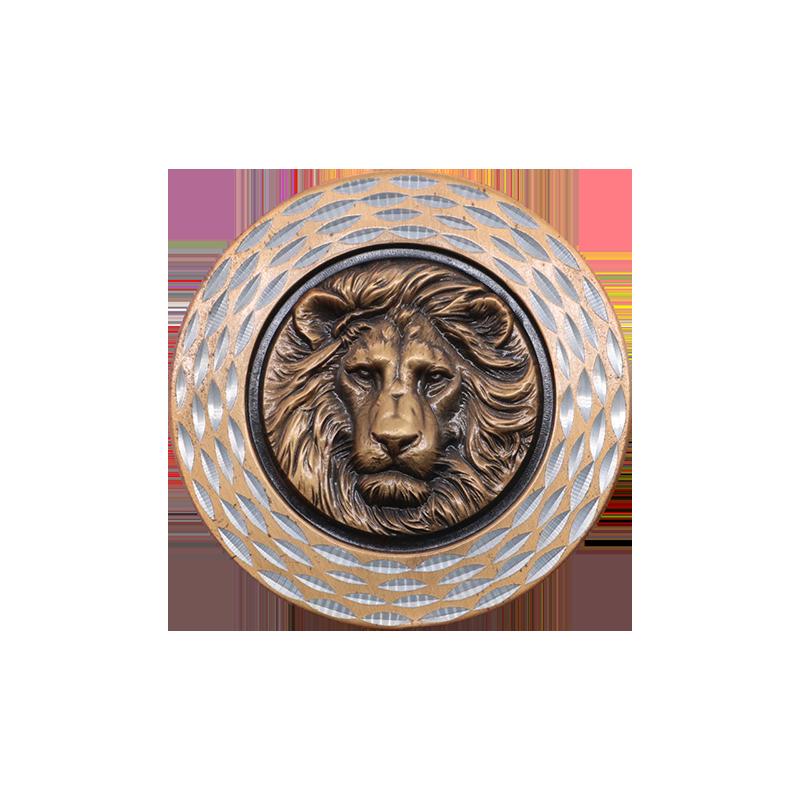 浮雕狮头纪念币