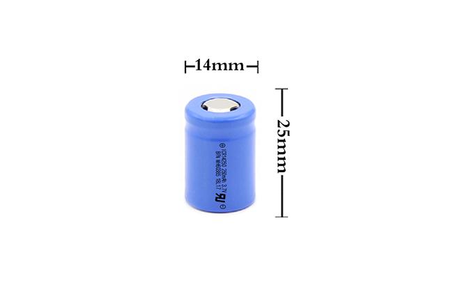 BFN 新型高低温电池 14250T-250mAh 3.7V