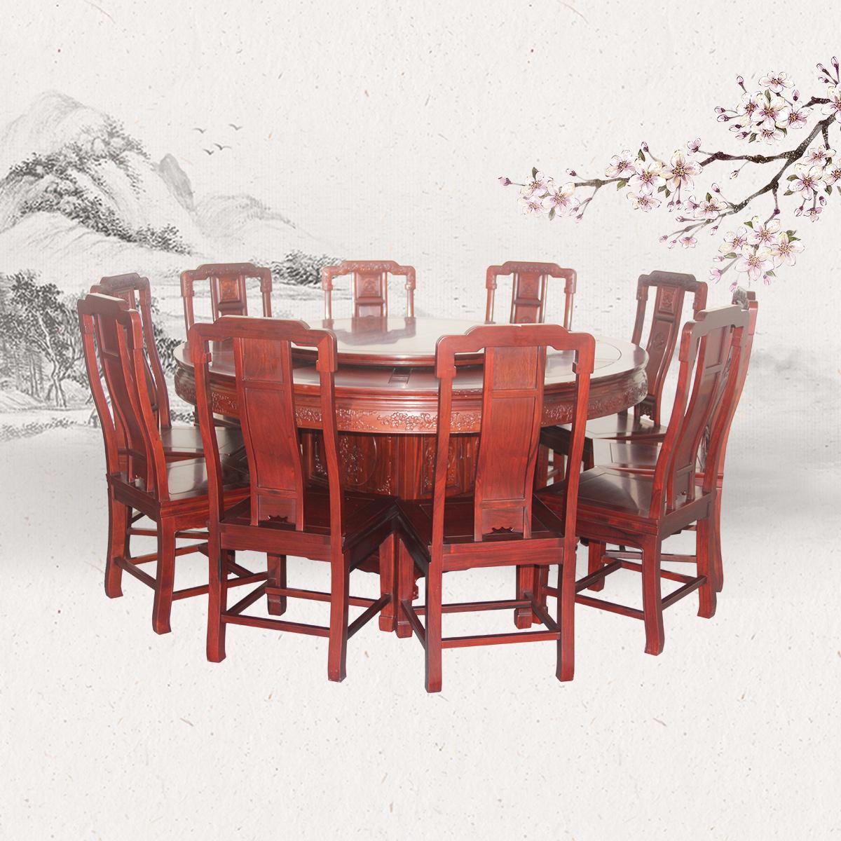 国色天香圆台餐桌