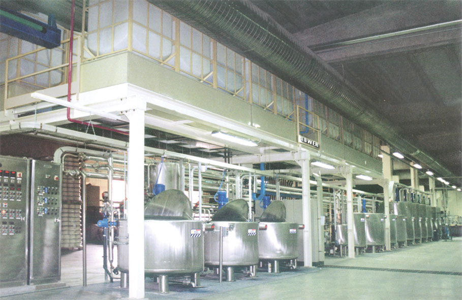 Liquid automatic feeding textile system