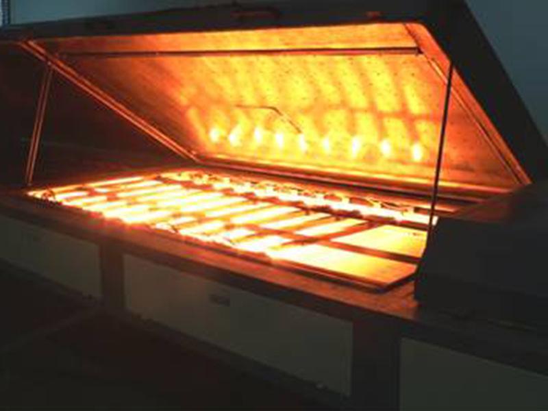 玻璃丝网印刷中的红外加热应用