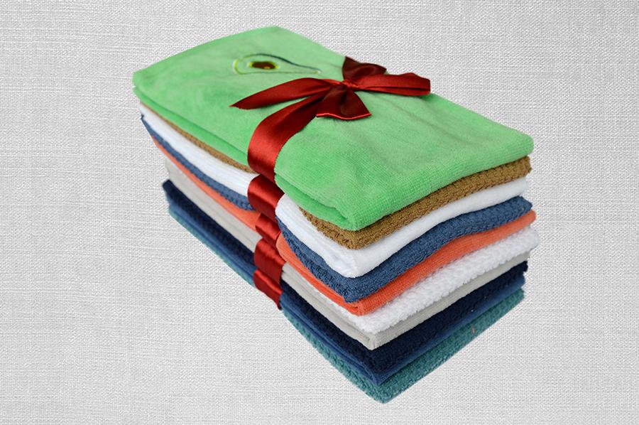 素色割绒巾+提花巾