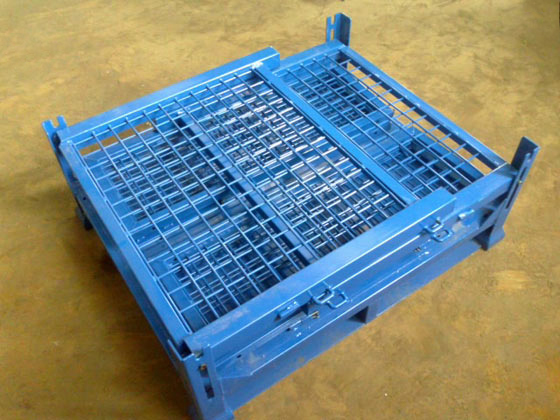 折疊網箱式堆垛架
