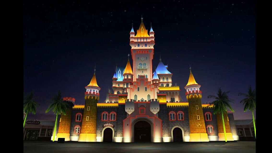 方特城堡亮化
