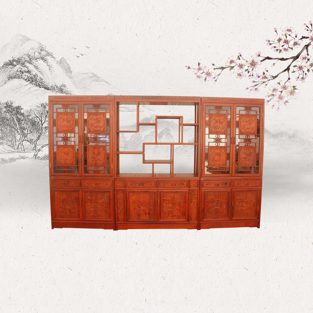 三组合书柜