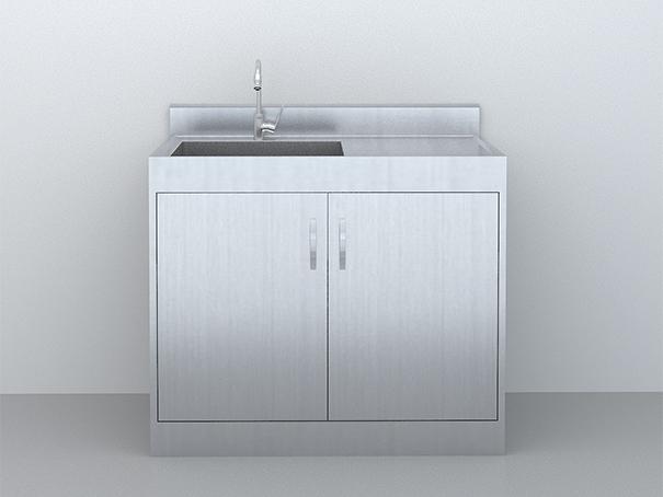SUS-304不锈钢-污洗柜1m