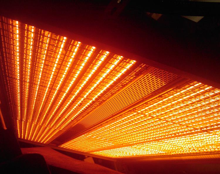 纸张加热中的红外辐射加热装置