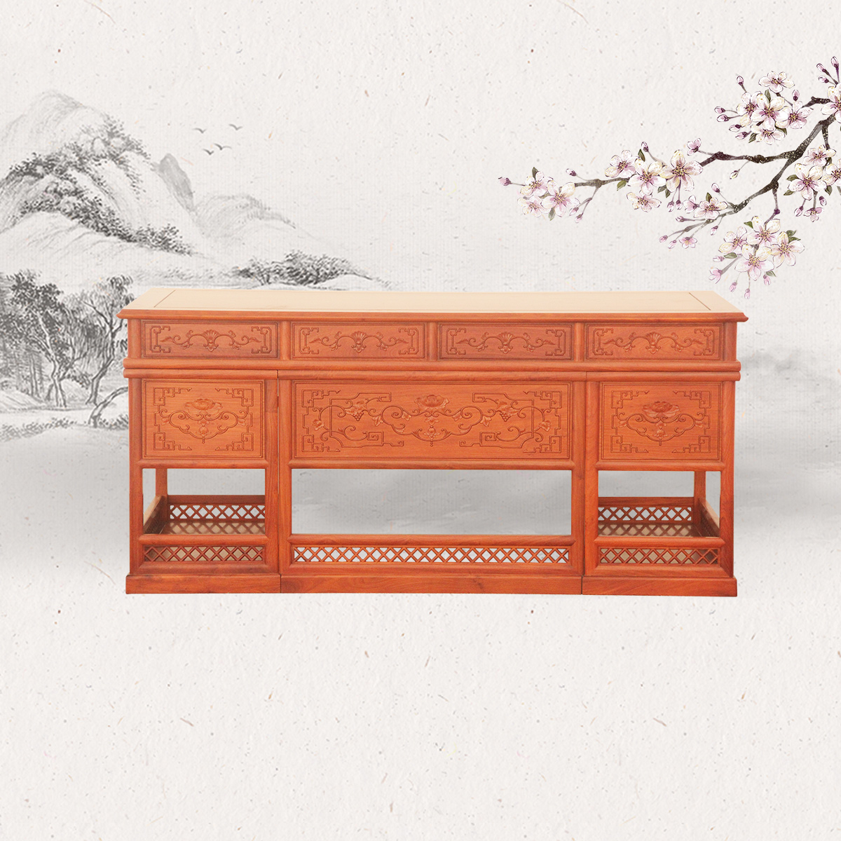 153中式写字台