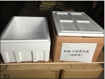 25-30只冰鮮雞快遞盒裝