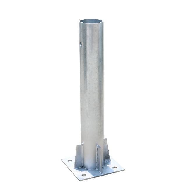 現貨供應護欄板配件法蘭立柱 防撞設施鍍鋅法蘭立柱