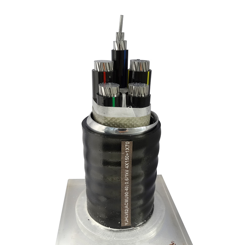 铝合金电缆 YJHLV82(ACWU90 40) 0.6/1kV 4X150+1X70