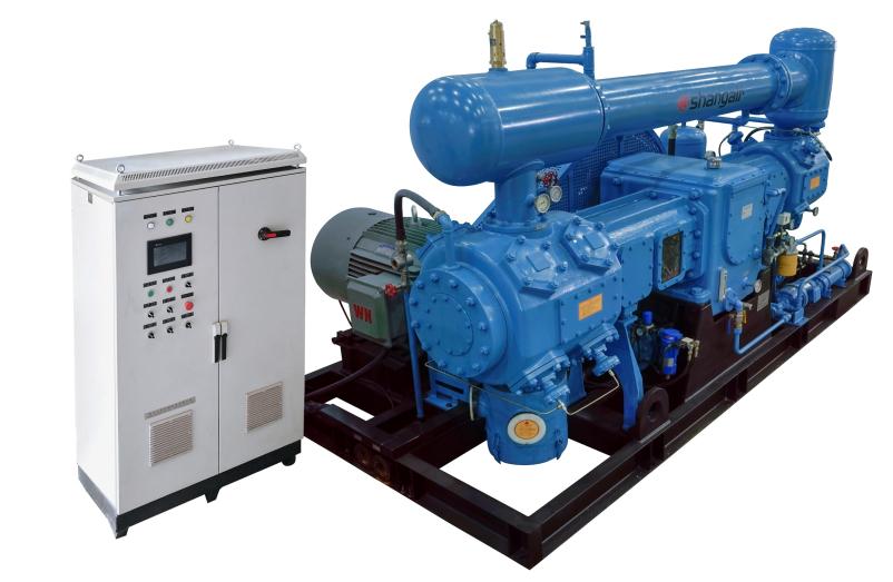 D系列對置平衡水冷無油增壓氣體壓縮機