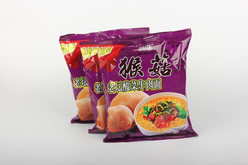 猴菇老坛酸菜牛肉面