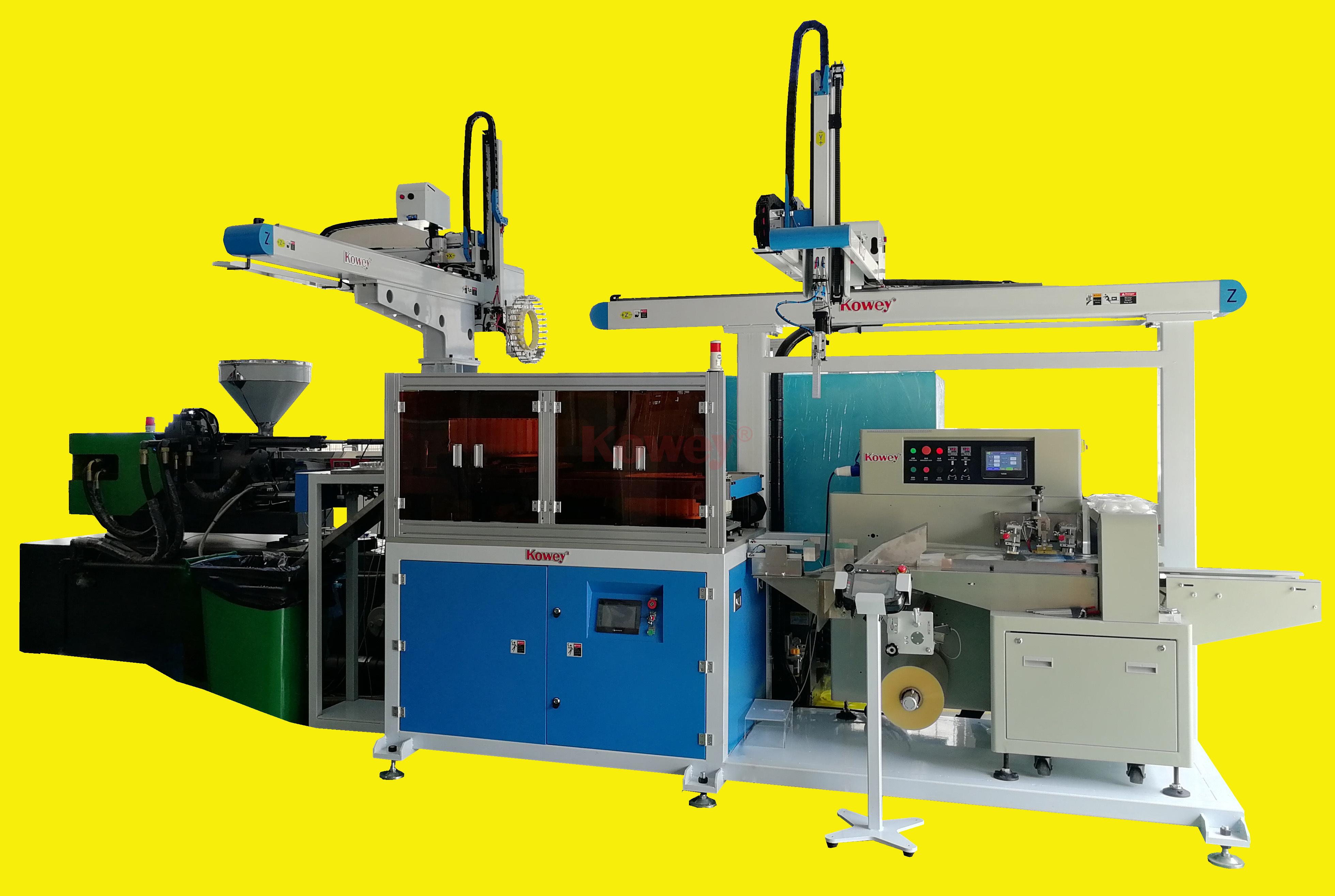 注塑自动化-一次性刀叉勺-全自动勺子取出和包装生产线(1出32)