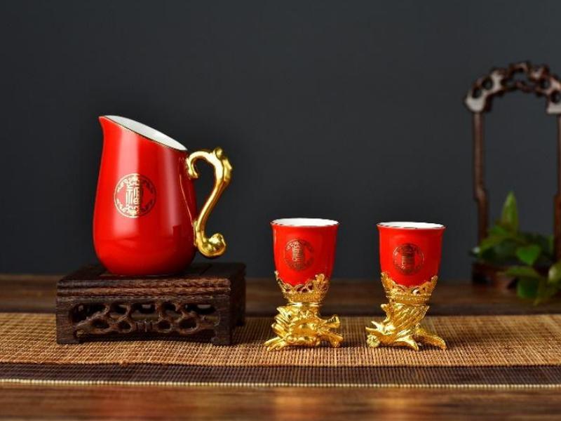 龙凤酒具(1壶2杯)