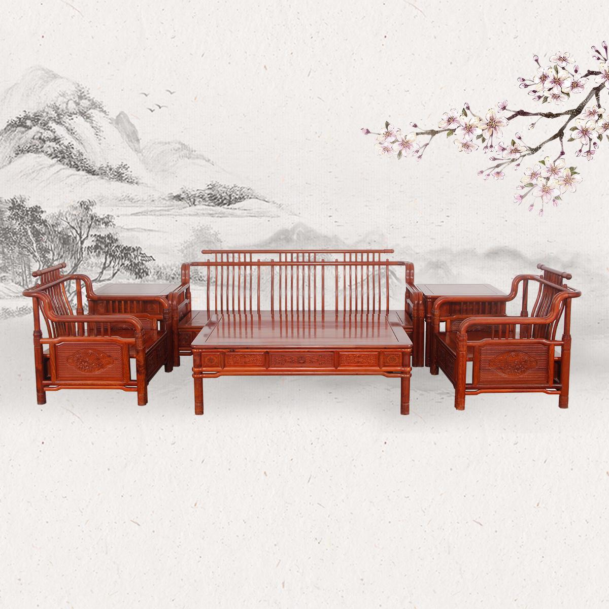 明式田园沙发
