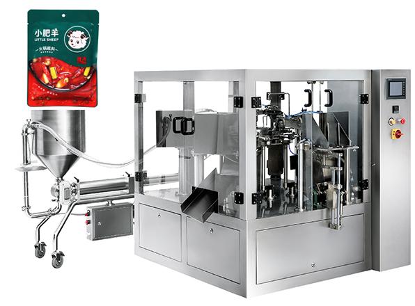 给袋液体包装机 全自动给袋酱料包装机 酱料灌装机