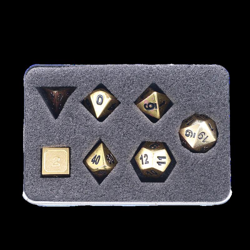 锌合金骰子套装