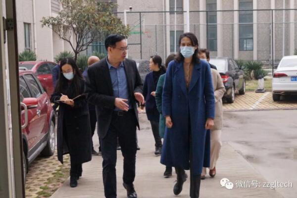 省统计局副局长袁祖霞一行莅临光力科技引导工作
