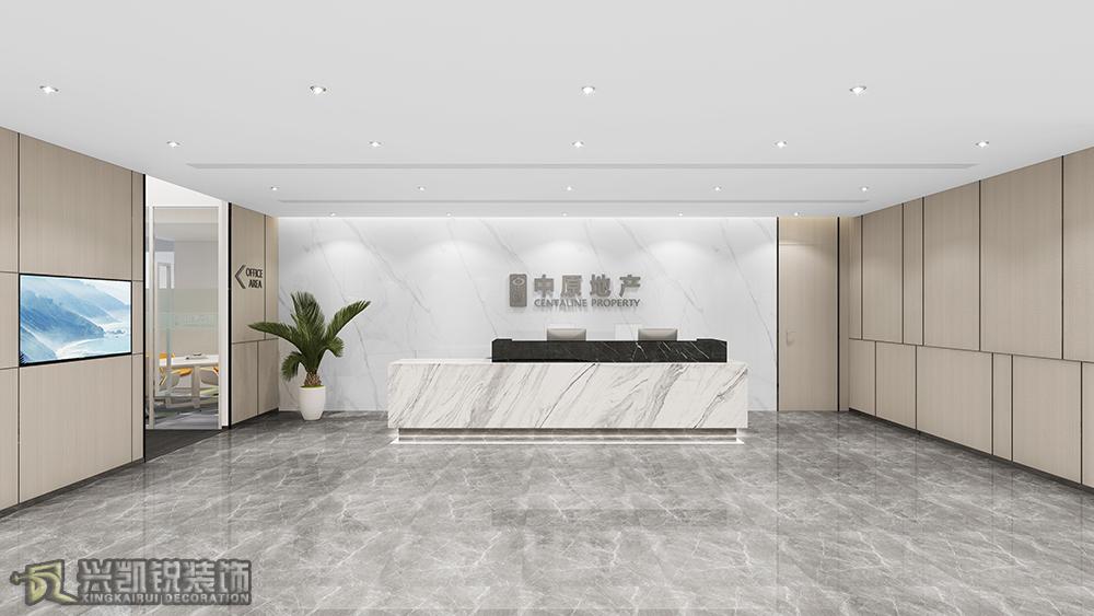南寧中原地產辦公室裝修設計案例!