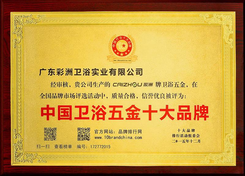 中国雷竞技App最新版五金十大品牌
