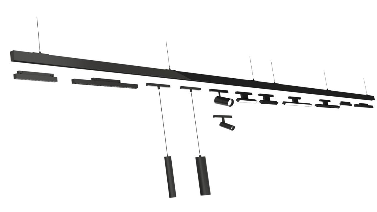 灵动系列低压磁吸轨道系统
